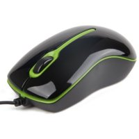 Gembird Mysz OPTO 1-SCROLL USB (MUS-U-004-G) Black/Green