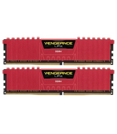 Corsair DDR4 Vengeance LPX 16GB/3200(2*8GB) CL16-18-18-36 RED 1,35V                                                                                   XMP 2.0