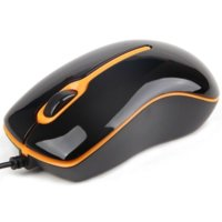 Gembird Mysz OPTO 1-SCROLL USB (MUS-U-004-O) Black/Orange