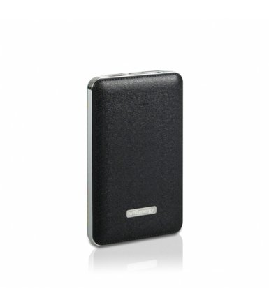 Whitenergy POWERBANK 5000mAh 2x USB 2.1A 1A SLIM czarny, kabel