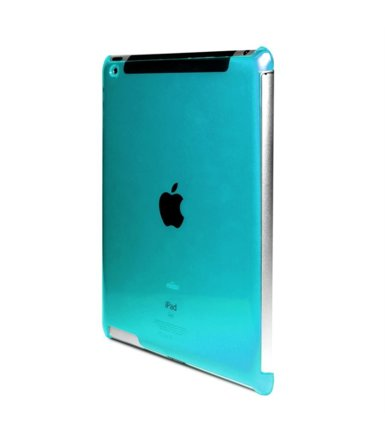 PURO Crystal Cover Fluo blue plecki new iPad/iPad 2
