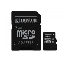 Kingston microSD 16GB Class 10 Gen2 1-adapter