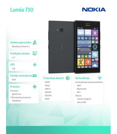 Nokia Lumia 730 DS GREY
