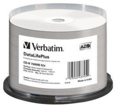 Verbatim CD-R 52x 700MB 50P CB DL Printable Azo 43745