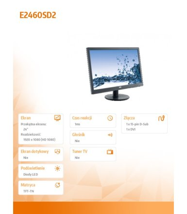 AOC 24'' e2460Sd2LED
