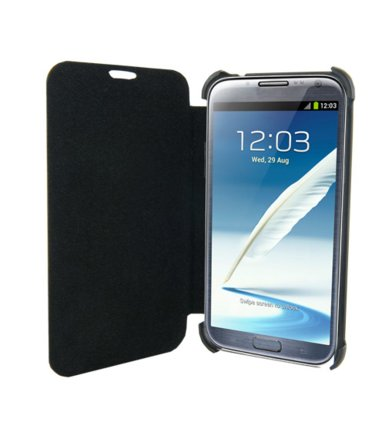 4world ETUI DO GALAXY NOTE 2 5.5'',SKÓRA,SLIM CZARNE