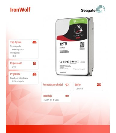 Seagate IronWolf  12TB  3,5'' ST12000VN0007
