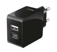 Trust USB A & C Smart Wall Chrger 15W