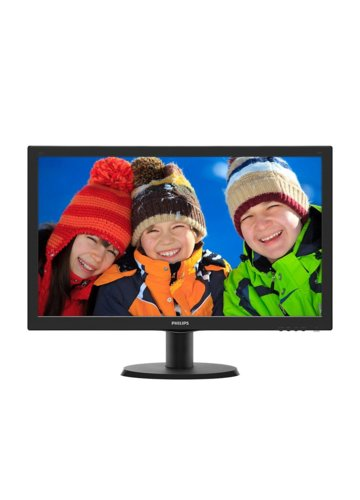 Philips Monitor 23.6 243V5LSB5 LED  DVI Czarny