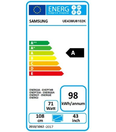 "Samsung 43"" TV UHD LED UE43MU6102KXXH"