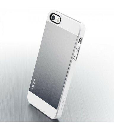 SPIGEN SGP  Etui Saturn Satin Silver iPhone 5/5s