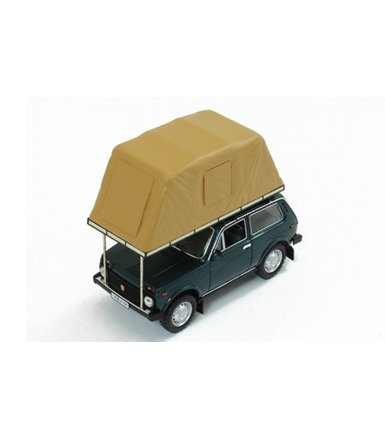 Lada Niva with Roof Tent 1981 (green) USSR