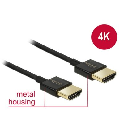 Delock Kabel HDMI-HDMI High Speed Ethernet 4K 3D Slim 4.5m czarny