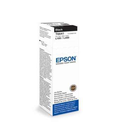 Epson Tusz T6641 BLACK  70ml butelka do L100/110/200/210/300/355/550