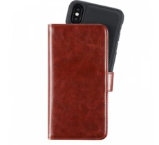 Holdit Walletcase magnetic iPhone X brązowy