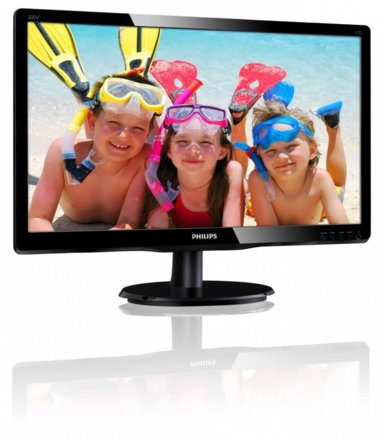 Philips Monitor 19.53 200V4QSBR LED MVA DVI Czarny