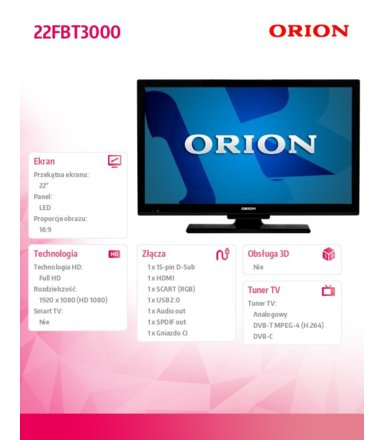 "Orion 22"" LED              22FBT3000"