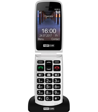 Maxcom MM824BB CZARNY Poliphone/Big button