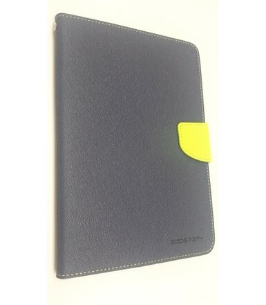 wel.com Etui skórzane Fancy do Apple iPad Air granat-limonka