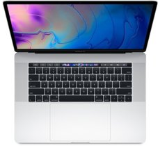 Apple MacBook Pro 15 Touch Bar, 2.6GHz 6-core 9th i7/16GB/256GB SSD/RP555X - Silver