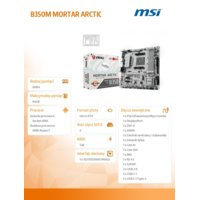 MSI B350M MORTAR ARCTIC AM4 4DDR4 8USB3.1/M.2/HDMI uATX