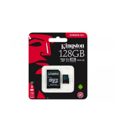 Kingston microSD 128GB Canvas Go 90/45MB/s + adapter