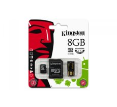 Kingston microSDHC  8GB class  4 + adapter + czytnik USB