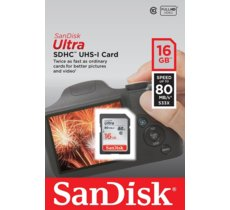 SanDisk Ultra SDHC 16GB 80MB/s UHS-I Class 10