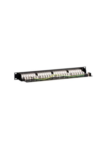 "Linkbasic Patch panel 19""/1U, UTP, kat. 6, 24 porty, półka organizująca kable"