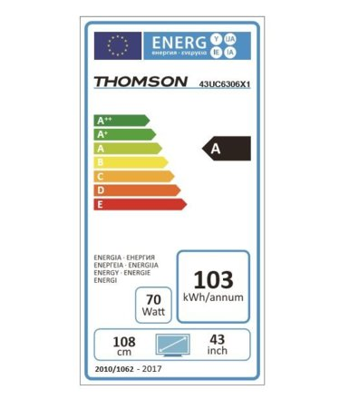 Thomson 43'' LED 43UC6306