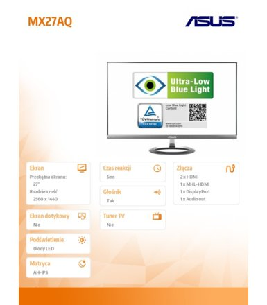 Asus Monitor 27 MX27AQ