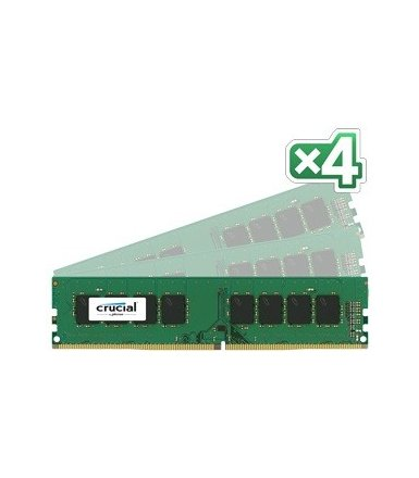 Crucial DDR4 64GB/2400 CL17 DR x8 288pin (4*16GB)