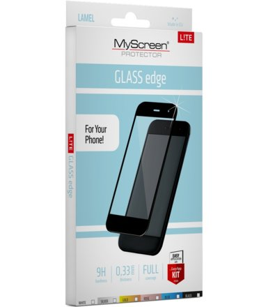 MyScreen Protector  LiteGLASS EDGE Szkło do LG K8 2017 Czarne