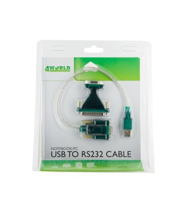 4world Adapter USB2.0 do RS232 DB9M DB25M