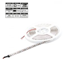 Whitenergy Taśma LED 5m IP20 8mm 9.6W/m 12V 120szt/m zielony / bez konektora