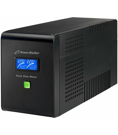 PowerWalker UPS LINE-INTERACTIVE 1500VA 4X 230V PL, Pure Sine   Wave, RJ11/45 IN/OUT, USB, LCD