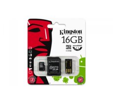 Kingston microSDHC 16GB class  4 + adapter + czytnik USB