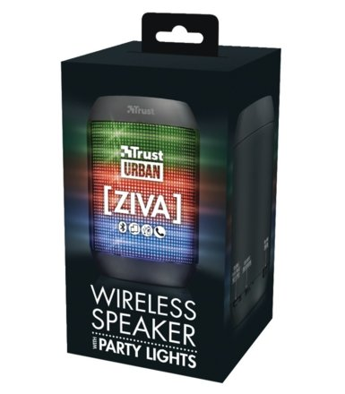 Trust Ziva Wireless Bluetooth speaker with party ligths