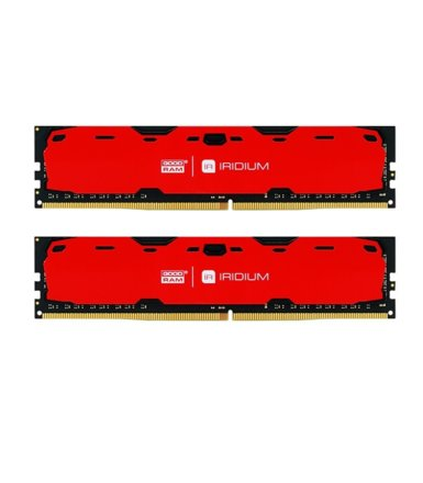 GOODRAM DDR4 IRIDIUM 8GB/2400(2*4GB) 15-15-15 512*8 Czerwona