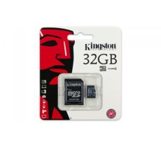 Kingston microSDHC 32GB class 4 + adapter
